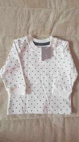 Bluzeczka Nutmeg, długi rękaw na 62cm, NOWA!!!