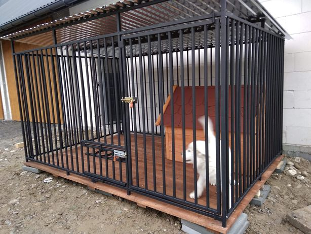 Kojec dla psa,klatka,wytrzymały solidny boks,konstrukcja spawana