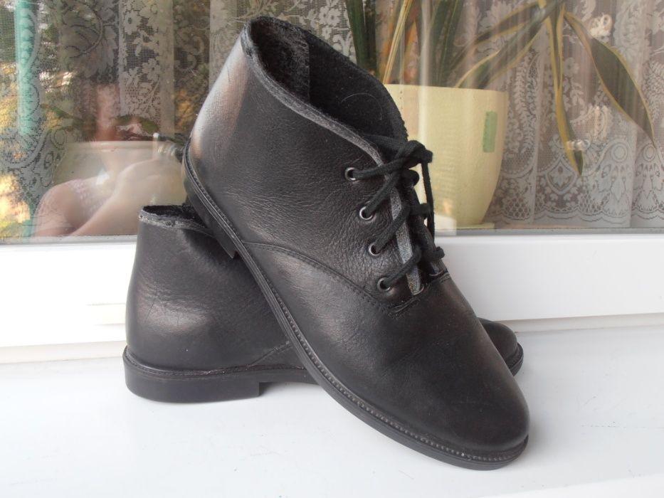 Ботинки кожаные черные Полтава - изображение 1