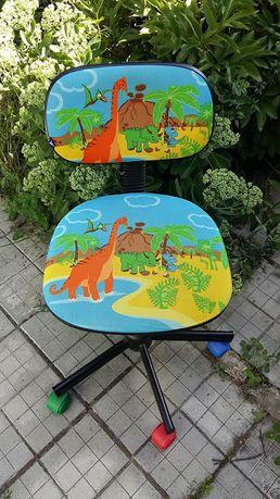 Стул детский Компьютерное кресло Динозавры