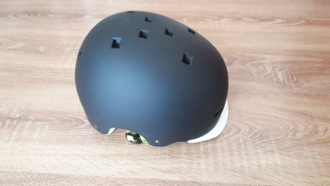 xjd kids kask rowerowy czrny mat