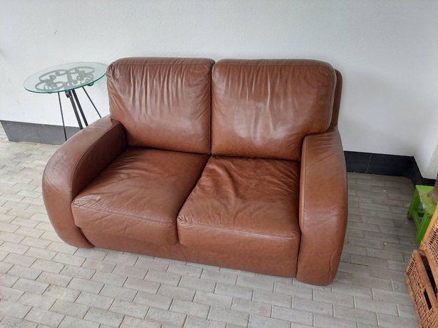 Кожаный диван в отличном состоянии