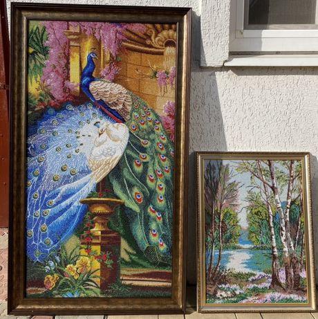 Продам картину ручной работы «Березовая роща» с Чешского бисера
