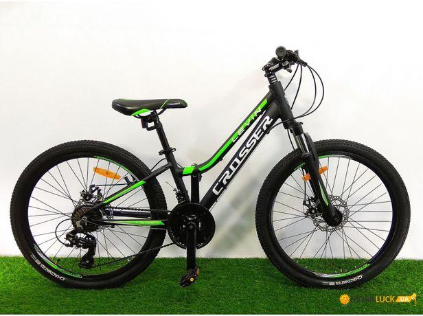 НОВЫЙ велосипед горныйалюминий Crosser Levin24 и 26 ГАРАНТИЯ Giant