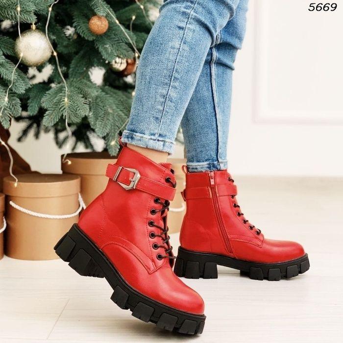 Ботиночки красные Житомир - изображение 1
