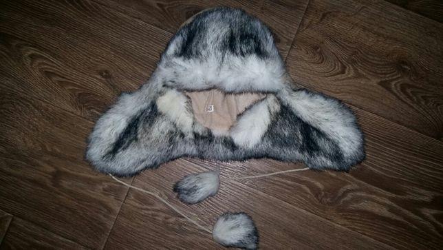 Шапка-ушанка меховая с бубонами