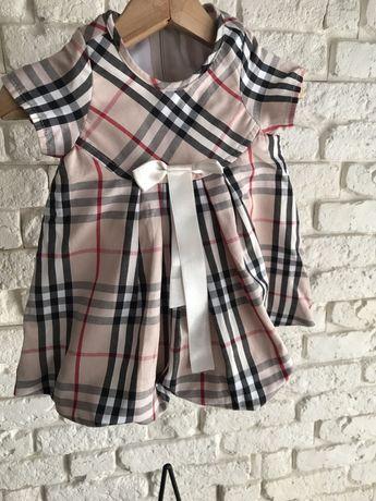 Urocza sukienka Burberry  rozmiar 86.