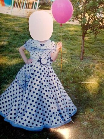 Платье на выпускной в садик 5-6 лет, конкурс.Горошек в тренде