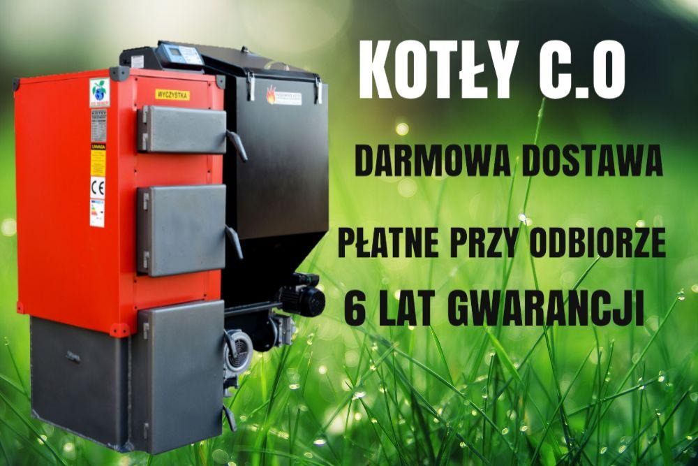 10 kW PIEC do 60 m2 Kotły z PODAJNIKIEM na EKOGROSZEK Kociol 7 8 9 Łosice - image 1