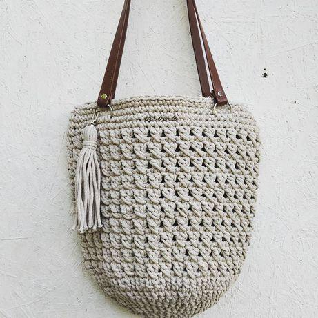 Torba ze sznurka bawełnianego Hand Made