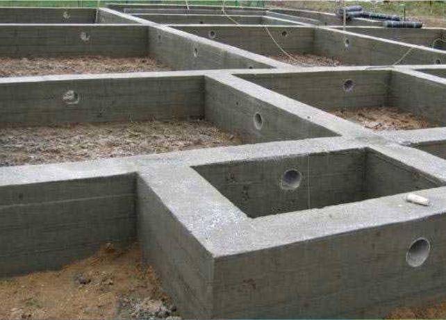 бетонные работы, фундамент, монолитные армопояса