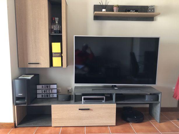 Vendo conjunto movel tv com prateleira e armario