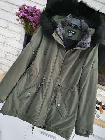Парка DKNY Donna karan пуховик пальто куртка размер М Calvin Klein
