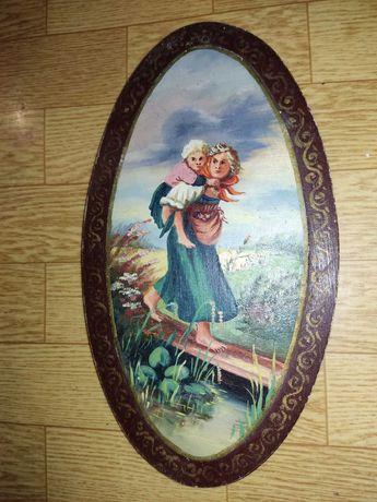 Картина маслом на доске времён СССР