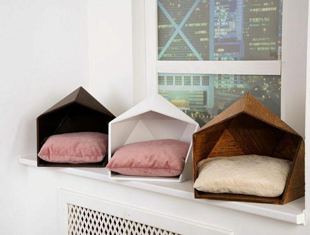 Стильні домики-лежаки для кішок і собак