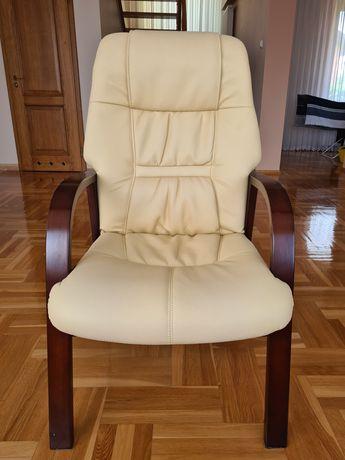 Fotel skórzany (w idealnym stanie)