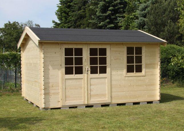 OD RĘKI Domek ogrodowy świerkowy drewniany narzędziowy 4x3,5 askor