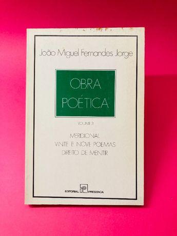 Meridional - Vinte e Nove Poemas - Direito de Mentir Vol. III