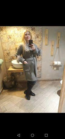 Nowy płaszcz szary rozmiar L
