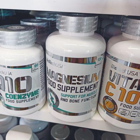 Biotech Magnez 120t, Minerały, Odżywki i Suplementy Diety