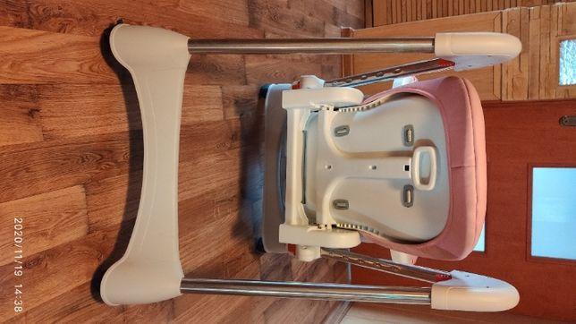 Krzesło do karmienia składane ekoskóra