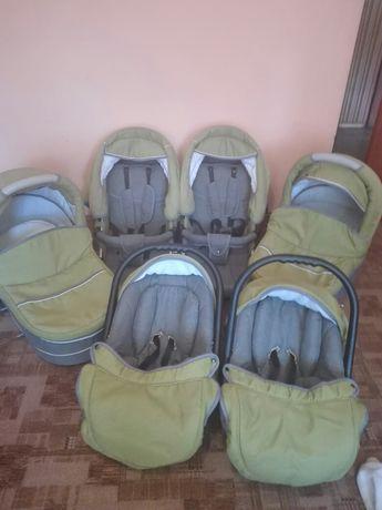 Kompletny wózek bliźniaczy,podwójny,rok po roku.gondole.spacerów.nosid