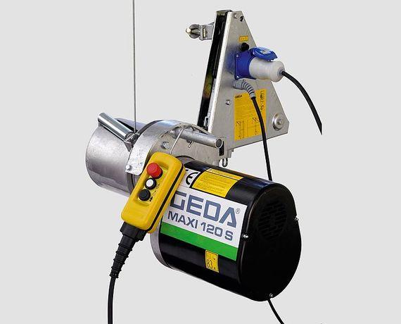 Wciągarka GEDA Maxi 120s lina L=51m. Z dostępnymi dodatkami
