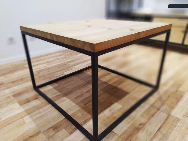 stolik kawowy loft industrialny sosnowy nowy