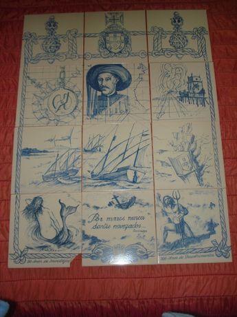 Vendo Painel de 12 Azulejos (Descobrimentos Portugueses)