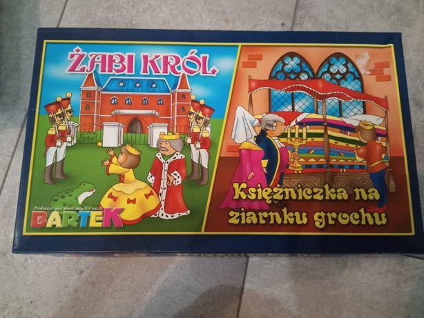Gra 2w1 Żabi król i Księżniczka na ziarnku grochu