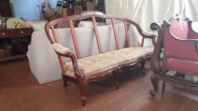 Canapé estilo romantico restaurado