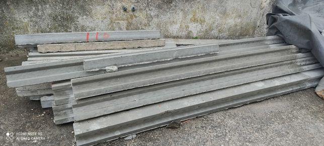 Vigas e vigotas de cimento nunca usadas