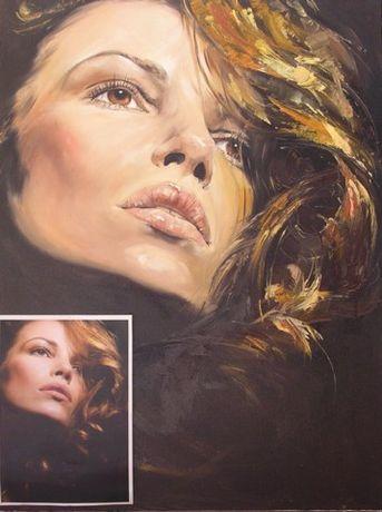 Obrazy, portrety na zamówienie, ze zdjęcia