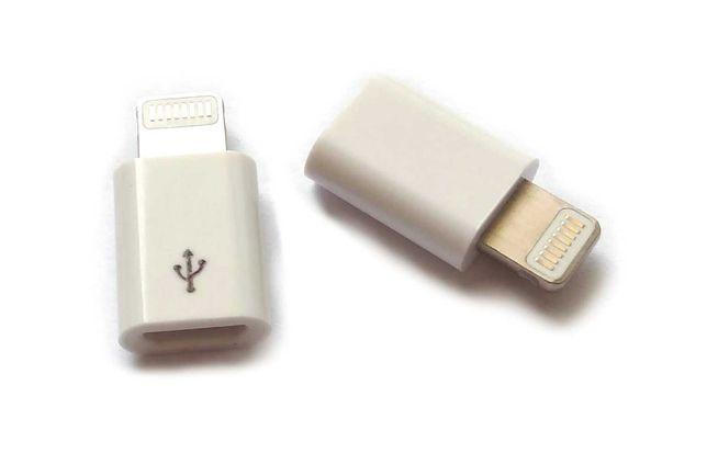 Adapter przejściówka konwerter micro USB na iPhone X 5 5s 6 6s Plus