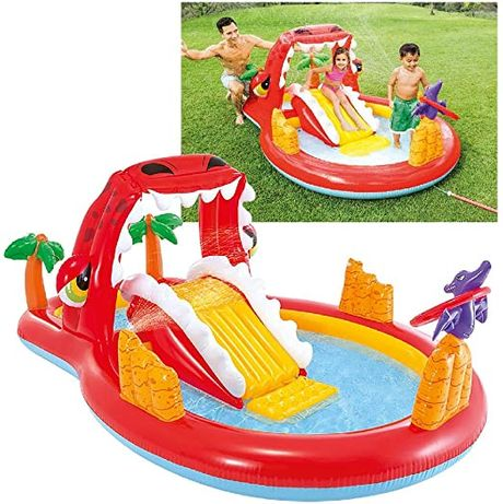Надувной игровой центр с бассейном Intex Дино 57163