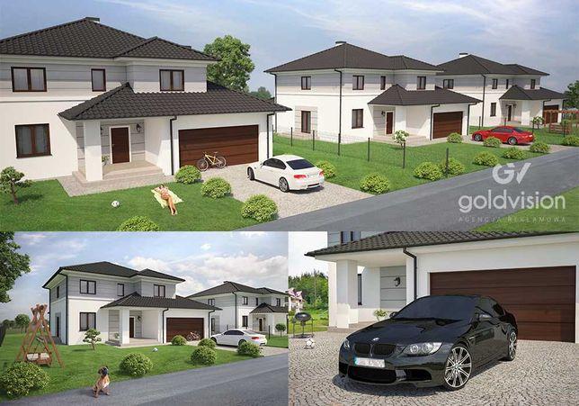 Wizualizacje 3D budynków, wnętrz, mebli, produktów. Grafika 3D Rendery