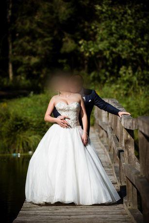 Suknia ślubna Diane Legrand gorset princessa 38 40 42
