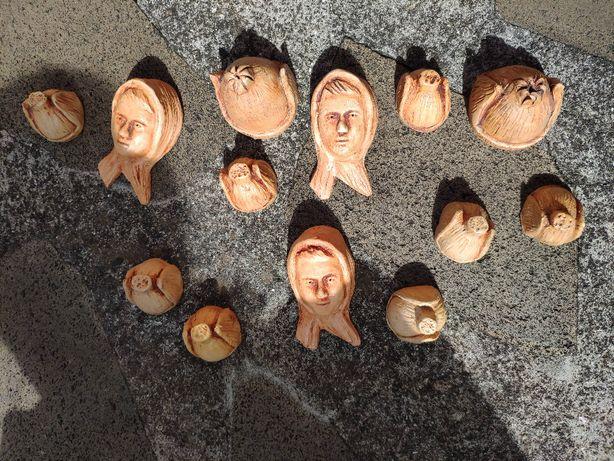 bonecos tipicos Madeira em Barro