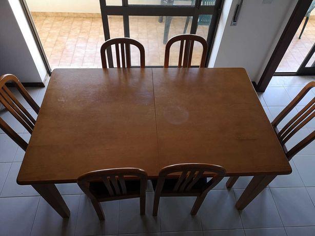 Mesa de sala em pinho mel