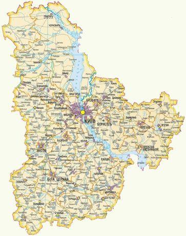 Археологические карты Киевской области!