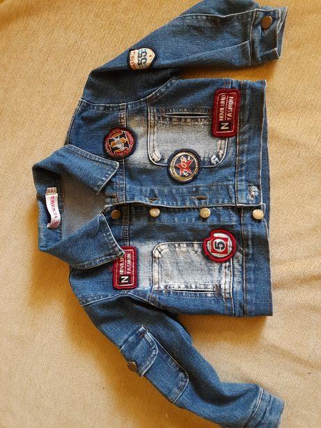 Джинсовая куртка р.86-92