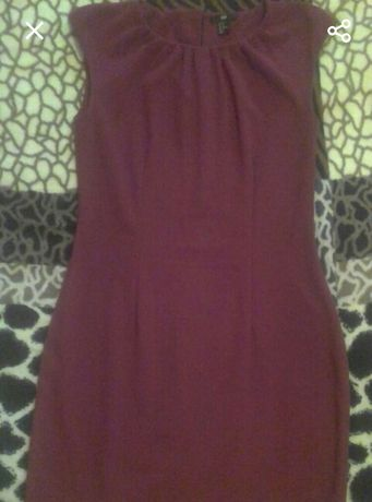Платье бордовое прямое