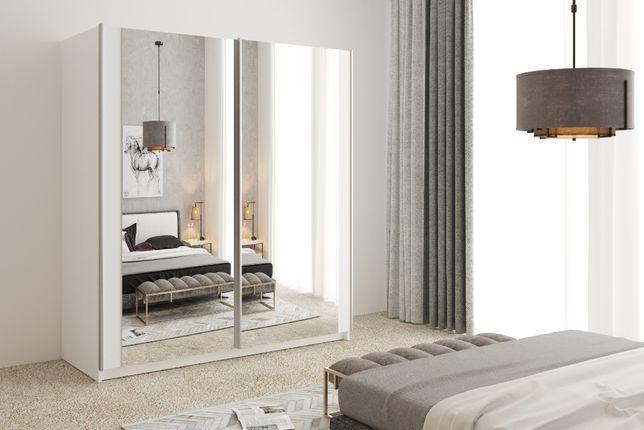 Szafa przesuwna pokój dziecięcy z lustrem GREK 3 na wymiar 130 cm