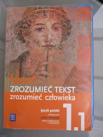 Nowe zrozumieć tekst zrozumieć człowieka podręcznik język polski 1.1