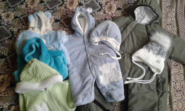 Теплые вещи на новорожденного