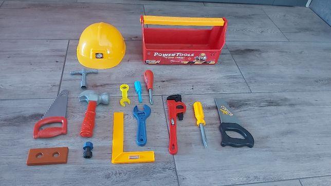 Narzędzia bob budowniczy majster kask budowa klucze walizka skrzynka