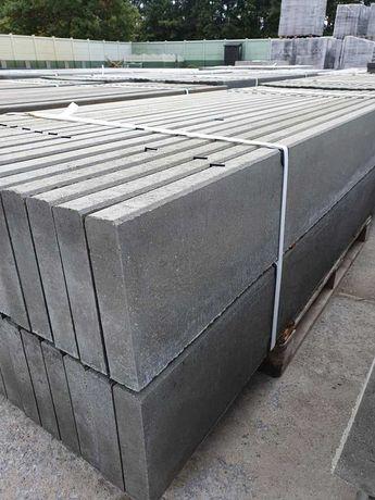 Podmurówka betonowa zbrojona; łącznik betonowy; wibroprasa