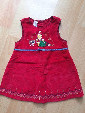 Sukienka na Święta 6-9 miesięcy