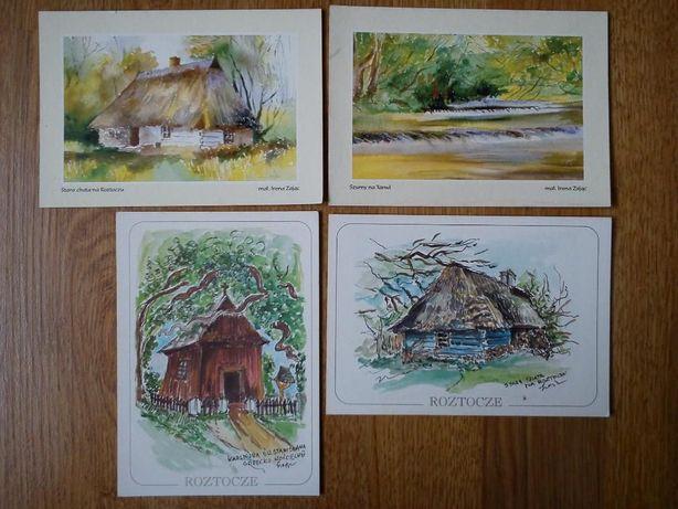 Kolekcja 5 pocztówek Ireny Zając (niezapisane)