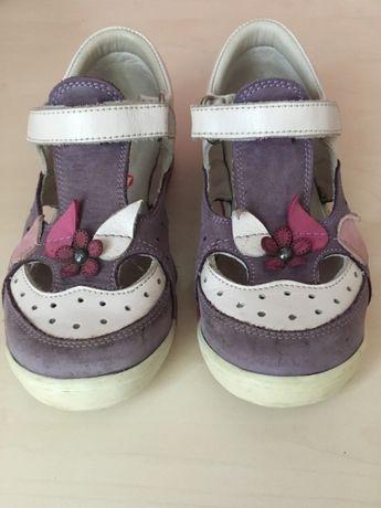 Туфельки для девочки Perlina кожаные